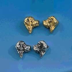 Ohrstecker Hundemotiv Beagle in Silber und Gold