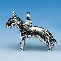 Tierschmuck-Anhänger Hunde-Rasse Bullterrier in Silber und Gold