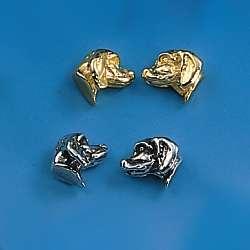 Ohrstecker Hunderasse Berner-Sennenhund in Silber und Gold