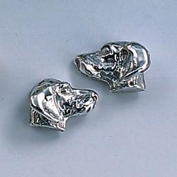 Ohrstecker Dackel in Gold und Silber