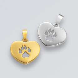 Anhänger Herz mit Hundepfote