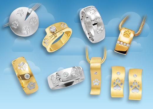 Hundepfötchen Ringe in neuem Design