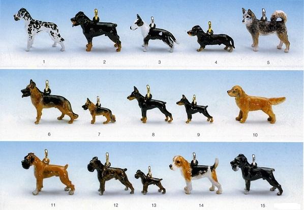 Hundeschmuck Anhänger handbemalt