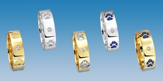 Aparte Ringe und Anhänger in neuem Design